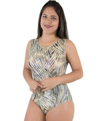 body diluxo regata estampado 3d caramelo