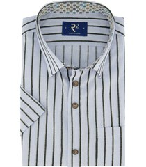 lichtblauw overhemd gestreept korte mouw r2