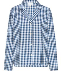 pajama shirt in poplin top blå gap