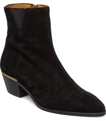 lizzi mid zip boot shoes boots ankle boots ankle boots with heel svart gant
