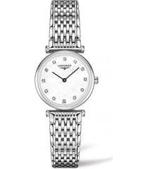 women's longines la grande classique de longines diamond bracelet watch, 24mm