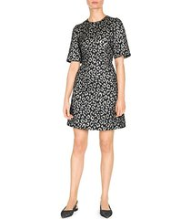 jacquard animal print dress