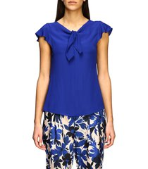 boutique moschino top top moschino crepe top with bow