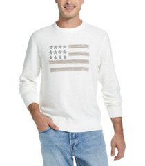 weatherproof vintage men's embroidered flag sweater