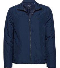 o2. the padded jacket sweat-shirt trui blauw gant