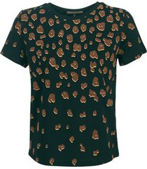 blouse maison scotch short sleeve tee with placement flock print