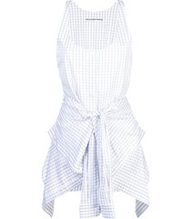 alexander wang all in one playsuit - white
