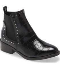 girl's steve madden kids' case boot, size 5 m - black