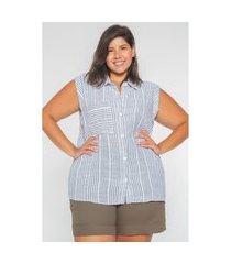 regata camisa linho plus size branco regata camisa linho plus size branco p kaue plus size