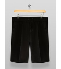 mens black textured lounge shorts