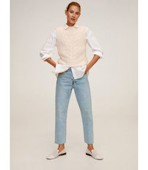 crop straight-fit jeans