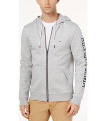 tommy hilfiger denim men's dash logo-print full-zip hoodie