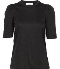rodebjer dory t-shirts & tops short-sleeved zwart rodebjer