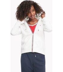 tommy hilfiger women's essential flag hoodie snow white - xxs