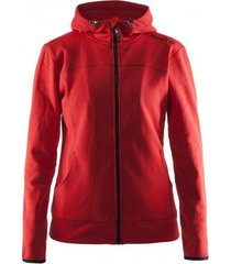 craft jas leisure full zip hood women bright red