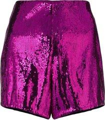 philosophy di lorenzo serafini sequin embellished shorts - pink