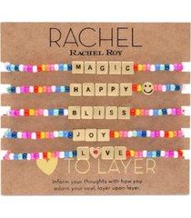 rachel rachel roy gold-tone 5-pc. set beaded stretch bracelets
