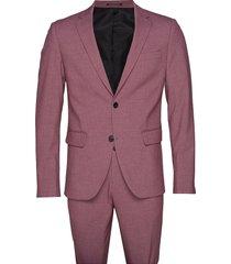 plain mens suit pak paars lindbergh