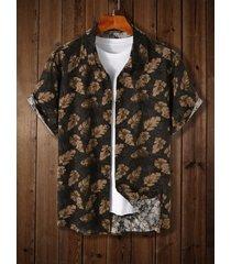 koyye hombre bohemio playa holiday all over print tropical camisa