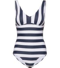 swimsuits baddräkt badkläder blå esprit bodywear women