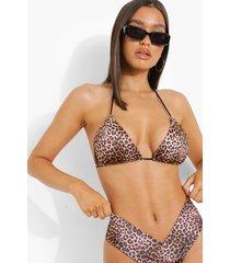 luipaardprint bikini set, brown