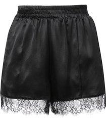 fleur du mal margo lace trim shorts - black