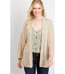 maurices womens open front kimono cardigan beige