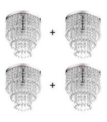 kit 4 lustres de cristal acrilico manucrillic maravilhoso!