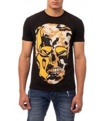 men's camo skull rhinestone short sleeve t-shirt