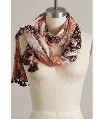 sundance catalog women's songbird garden scarf in brown mult