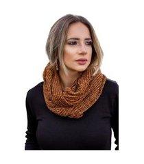gola tricot samila inverno shopping do tricô cachecol