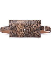 women snake modello waist borsa pu custodia per cellulare in pelle con cassa casual borsa