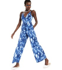 inc cotton tie-dyed jumpsuit, created for macy's