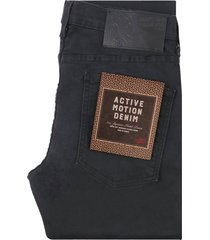 naked and famous super guy active motion jeans - black 101883100-blk