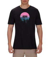 hurley men's premium smeared out graphic t-shirt