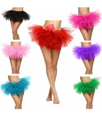 adult women's  5 layered tulle fancy ballet dress sexy tutu skirts