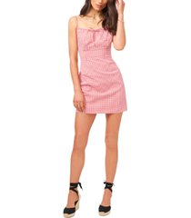 1.state printed tie-front mini dress