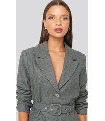 karo kauer x na-kd patch pocket blazer - grey