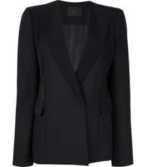 dion lee straight-fit blazer - black