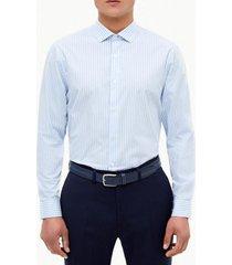 camisa formal rayas celeste perry ellis