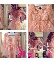 custom made coral short prom dress,sexy evening party brides formal dress yu01