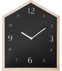 zegar ścienny drewniany domek black