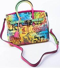akira baller alert graffiti handle purse