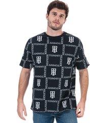 mens drop shoulder print t-shirt