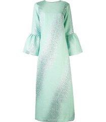 bambah camelia gradient kaftan dress - blue