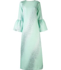 bambah camelia gradient kaftan dress - blue