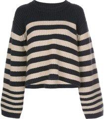 dotty striped cashmere sweater