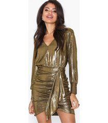 river island metallic shirt dress festklänningar