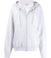 grey bb print hoodie