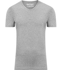 bodyfit t-shirt v-neck grey mãªlã©e